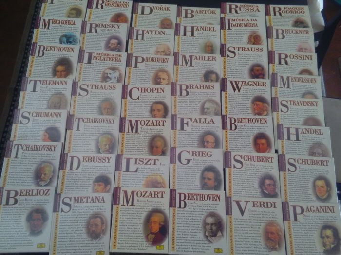 Lot of 43 dvd's of great classic music authors, mint from Deutsche Grammophon editors