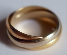 Cartier Trinity ring - Tricolour 18 K gold, 8,2 g, 17,8 mm