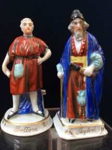 Two Chelsea toys - Porcelain Shylock and Bottom