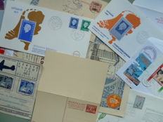 The Netherlands and Overseas - Batch of postal items and miscellaneous from 1874