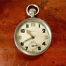 English military Pocket Watch - World War 2 - Helvetia brand
