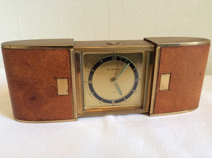 Travel clock - brand Europa - in Art Deco style - 2nd half 20th century