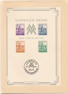 Soviet Zone 1946 - Leipziger Messe - large block with dust jacket - Michel block 5 SX