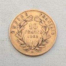 France - 10 Francs 1862 A (Paris) - Napoleon III - Gold