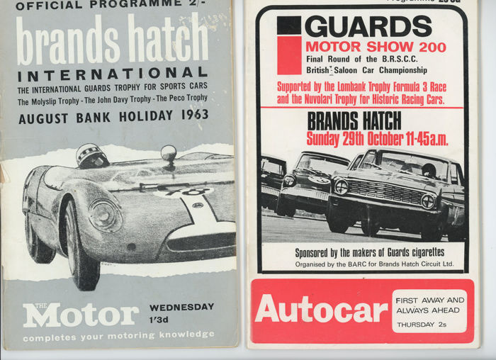4 X Brands Hatch 1960s  Motor racing programmes Porsche Ferrari, Mini