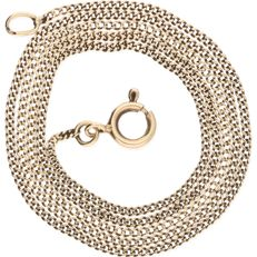 14 kt – Yellow gold curb link necklace – Length: 42.1 cm