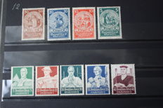 German Empire - 1924/1934 - Michel NN. 351/354 and 558,561/564 - 2 Series