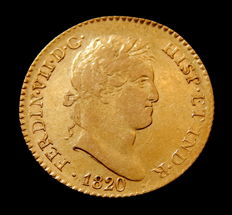 Spain - Fernando VII - Doubloon of 2 escudos 1820 Madrid GJ - gold