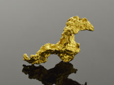 Gold nugget natural - 18 x 7.8 x 6 mm - 8.81 ct.