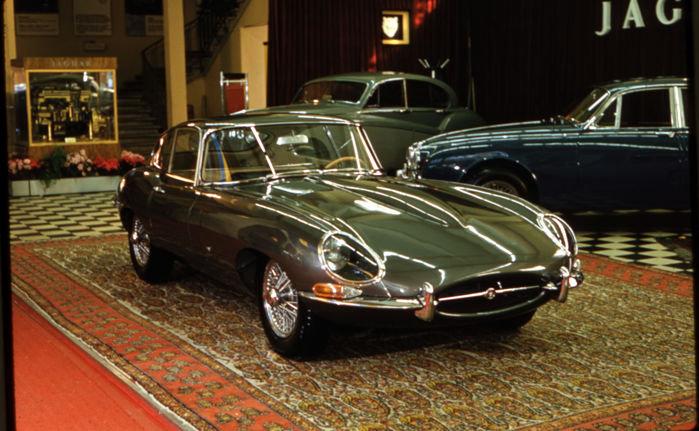 1961  Jaguar E type 3.8 Launch Geneva Motor show Colour  Photograph 54cm x44cm