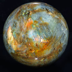 "Rare Orange Flash Labradorite ""healing Sphere"" - 92 mm - 1094 gm"