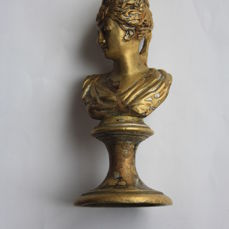 Golden bronze bust of Empress Diane by Houdon - France - 19th century