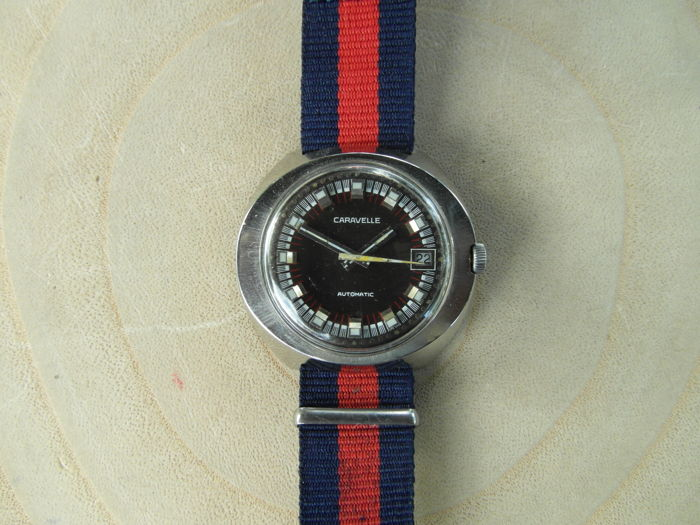 Caravelle  70's Automatic Wirstwatch, 25 Jewels, Steel Case, 21.600 A/h