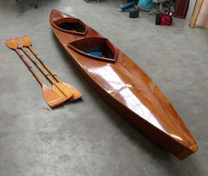 Wooden canoe for 2 people, ready to sail - ca. 1980