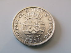 Saint Thomas and Principe - 2½ Escudo 1939 - prata