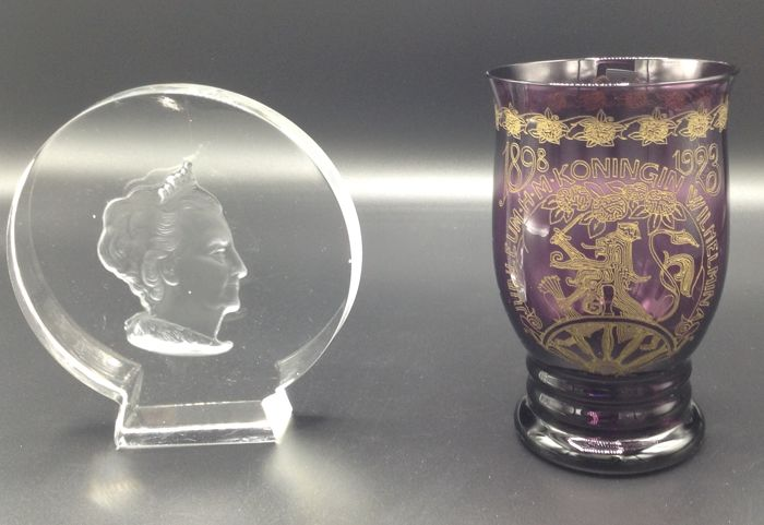 Glass Wilhelmina Cup and Plaque