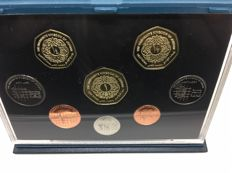 Jordan - Proof Coin Set 1996 Collection Royal Mint 1 1/2 1/4 Dinar 10 5 2.50 Piastres 1  1/2 Qirsh