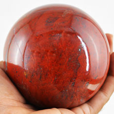 "Very Rare Red Dragon Fire Agate ""healing Sphere"" - 70 mm - 677 gm"