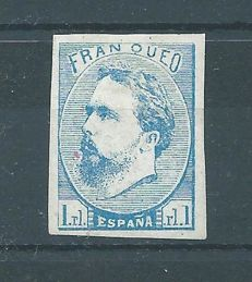 Spain 1873 – Value: 1 real. Carlista post  – Edifil 156
