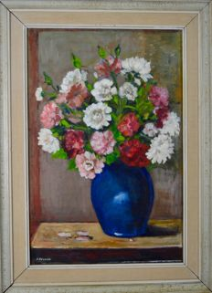 Dorothy Pulford (20th century) Still life of a vase of flowers.