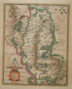 Ireland; Gerard Mercator / Jodocus Hondius - Udrone, Irlandiae in Catherlagh Baronia - 1619