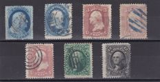 United States 1861/62 - Scott 24, 63, 65, 68 and 69