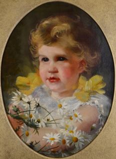 Continental school. (19th/20th century) - A portrait of a child