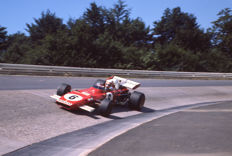 1971  German Grand Prix Ferrari Clay Regazzoni Colour  Photograph 54cm x44cm