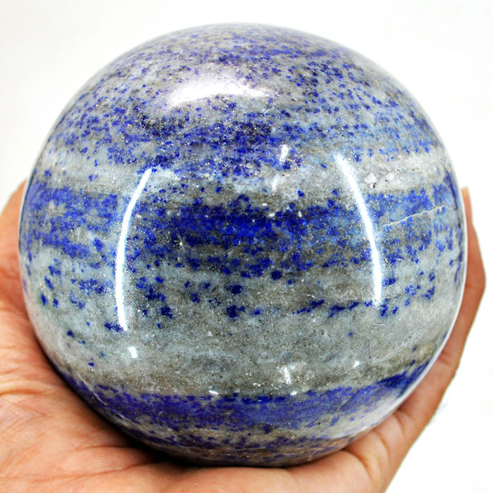 "Top Blue lapis Lazuli  ""healing ball"" - 92 mm - 1096 gm"