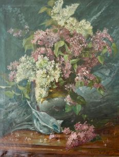 Jean-Claude Boyer (19th century) - Lilac blossoms