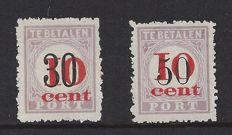 Suriname 1911 – Postage due Aid Issue – NVPH P15/P16