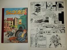 Broeckx, Jeff - Original page (p.15) + album - Sloeber - hc with cloth spine- 1st edition - (2007)