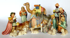 Hummel Goebel - no. 214 - Nativity Set with Standing Camel and Flying Angel - 20 pieces