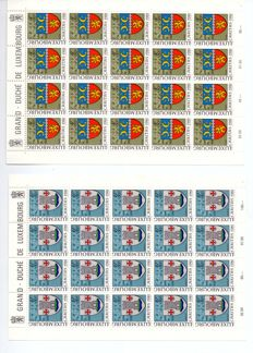 Luxembourg 1981 -  Serie Caritas 1981 Feuilles complètes 5x4 Timbres - Michel 1041/1045