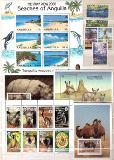 American Fauna theme – Lot of stamps in complete series and sheets.
