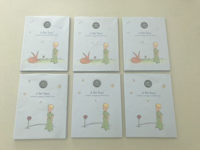 France 2016 50 Euro The Little Prince Lot Of 6 Coins Silver