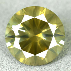 Diamond – 1.10 ct Natural Fancy Dark Yellowish Green	Si2 – NO RESERVE PRICE