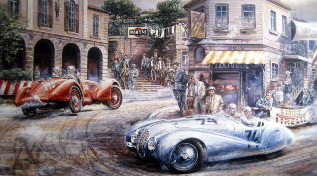 mille miglia 1940 bmw 328 spider 74 adolf brudes. Black Bedroom Furniture Sets. Home Design Ideas