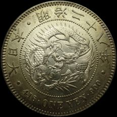 Japan - Yen 1895 ( Mingzhi Year 28) - silver