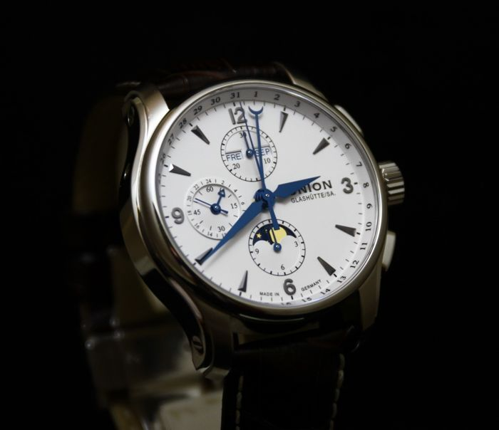 Union Glashütte Belisar Chrono Moonphase - D002.425.16.037.00 - Heren polshorloge - 2011-heden