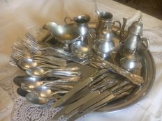 Vintage Sheffield with silver plated cutlery - Silver title 800