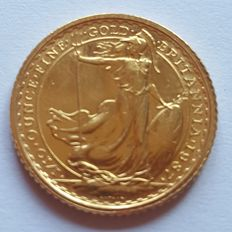 "Great Britain - 10 Pounds 1987 ""Britannia"" - Elizabeth II - 1/10 oz of gold"