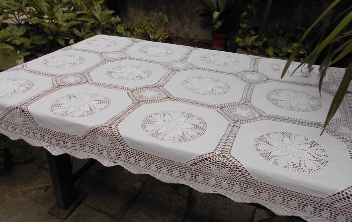 Vintage table cover tablecloth