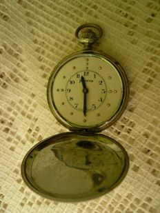 Vintage pocket watch Helvetia for the blind, Swiss made, rare