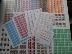 The Netherlands 1979/1989 - Selection of 22 complete sheets and December sheetlets