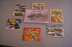 Dinky Toys - Lot with reference work Dr. Edward Force Dinky Toys First Edition & 6 British Dinky Toys Catalogues no.3/5/8/9/13/14