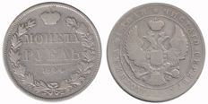 Russia - rouble 1844 MW (Warsaw) - silver