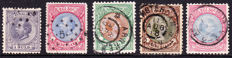 The Netherlands 1872/1899 - Selection of 5 stamps - NVPH 28, 29, 45, 46, 47