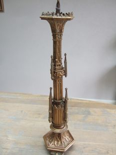 19th century brass church candlestick from France