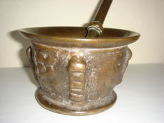 Antique mortar made of bronze 16th - 17th century